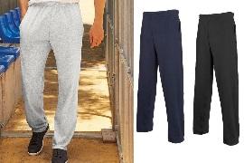 Мужские лёгкие спортивные штаны Lightweight Open Hem Jog pants 64-038-0 от брэнда Fruit of the loom