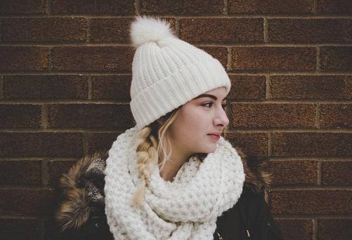 помпон на шапке фото