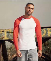 Мужская двухцветная футболка с длинными рук.