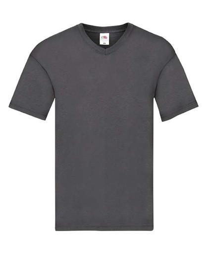 Мужская тонкая футболка с v образным вырезом