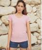 Женская футболка с v образным вырезом