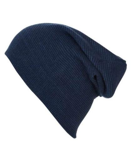 Повседневная длинная шапка бини