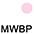 MWBP Белый / Светло-Розовый