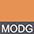 MODG Оранжевый Меланж / Темно-Серый