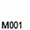 M001 Белый