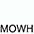 MOWH Белый