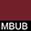 MBUB Бургунди / Чёрный