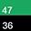 47/36 Ярко-Зеленый / Черный-702